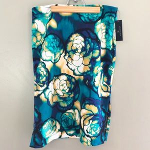 Worthington New Julia Floral Double Slit Skirt